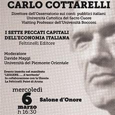 MERCOLEDI' 6 MARZO CARLO COTTARELLI